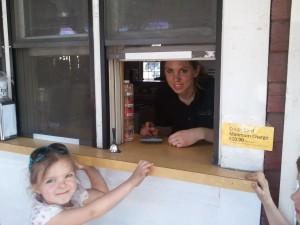 NEK Moms Photo of the Week:  Proof that Spring Has Arrived in Vermont's NEK – Carmen's Ice Cream Window Opens!