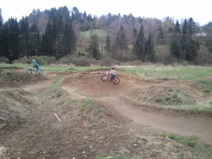 Riding in VT:  A Kid's Dream Parr's Park Pump Track on Vermont's Kingdom Trails