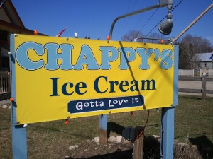 NEK Moms Photo of the Week:  Chappy's Ice Cream Opens for the 2012 Season in East Burke!